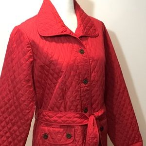 Carole Little Jackets & Coats - Carol Little Red Belted Jacket Coat Size L